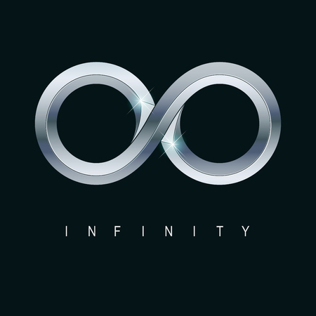 vector of metallic infinity with shiny texture