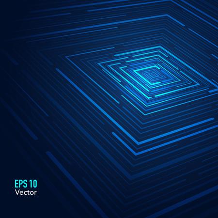 Fondo futurista abstracto Ilustración de vector