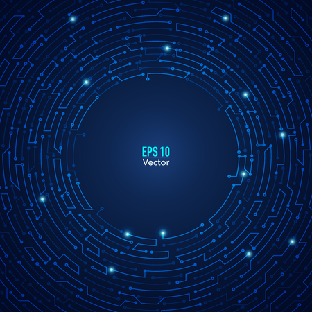 abstract futuristic background, technological electronic maze backdrop Stock Illustratie