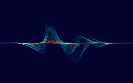 Abstract digital colorful equalizer, sound wave pattern element