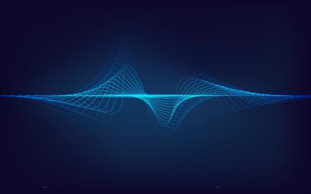 abstracte digitale technologie blauwe equalizer, geluidsgolfpatroonelement voor decoratie