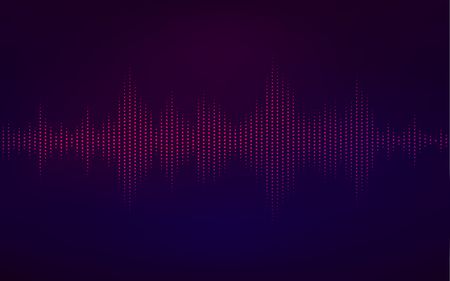 An abstract digital technology equalizer, sound wave pattern element for decoration Illustration