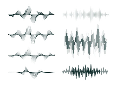 abstract digital technology equalizer, sound wave pattern element for decoration Stock Illustratie