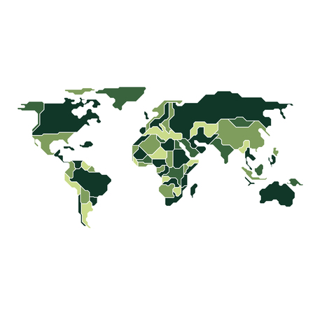 graphic of world map combined with camouflage pattern Ilustrace