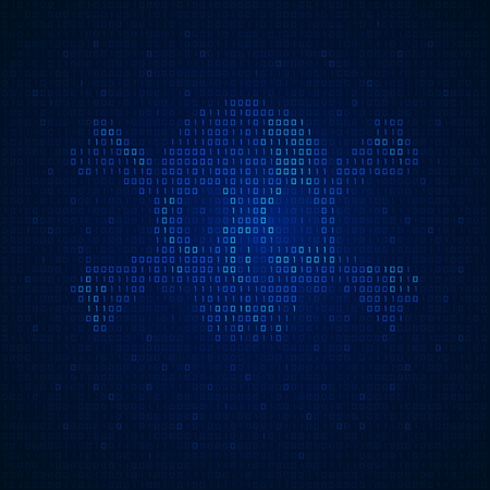 concept de cybercriminalité, piratage et piratage sur Internet, forme de crâne combiné avec code binaire