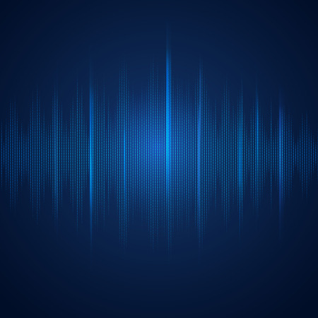 abstract digital equalizer, sound wave pattern element