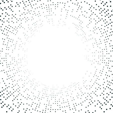 abstract digital technology backdrop, graphic of dotted circle for decoration or being background Ilustrace