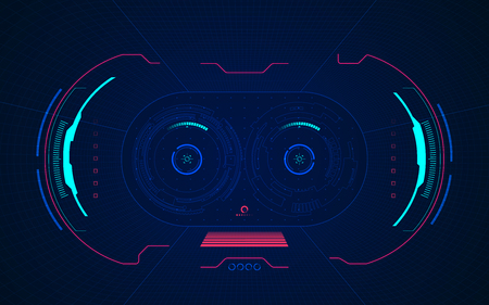 point of view from VR glasses digital interface