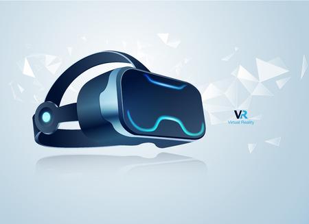Konzept der Virtual-Reality-Technologie Vektorgrafik