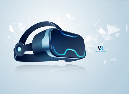 concept of virtual reality technology Illustration
