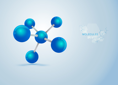 graphic of realistic molecule structure