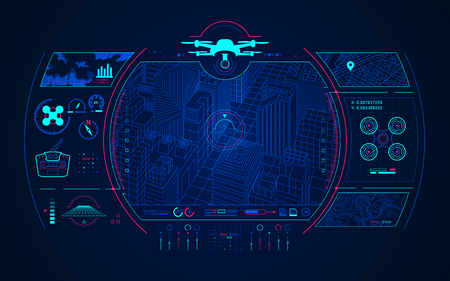 graphic of drone control interface