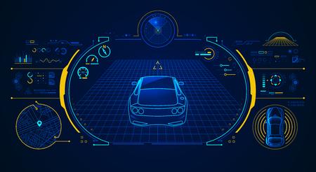 concepto de tecnología de coche inteligente