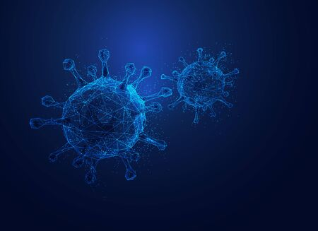 graphic of wireframe virus with element