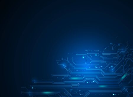 graphic of electronic theme for futuristic background