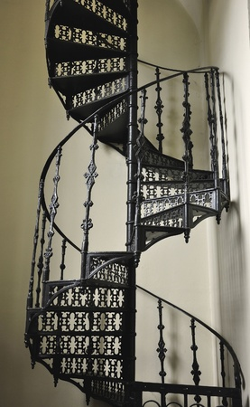 upstairs: Iron work circular stair
