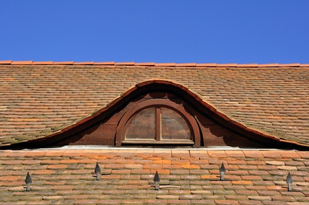 obuda: Garret-window in Obuda, Budapest