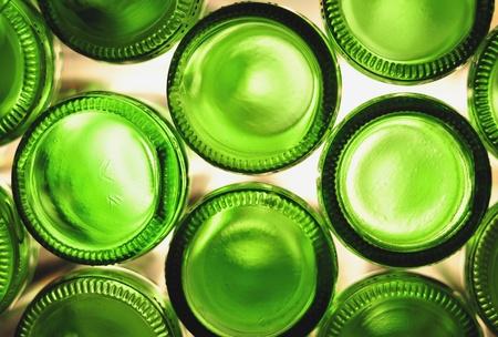 Green empty bottles photo