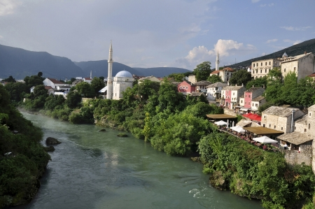 mostar: View of Mostar from the Old Bridge