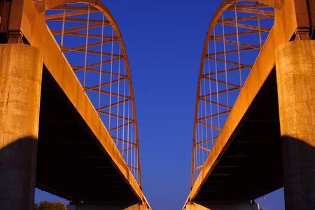 Cedar Bridge Against Deep Blue Sky