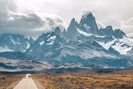 fitz: Monte Fitz Roy - Chile Stock Photo