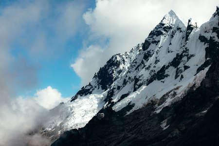 salkantay: A snowy, sharp peak in the Willkapampa mountain range, Peru.