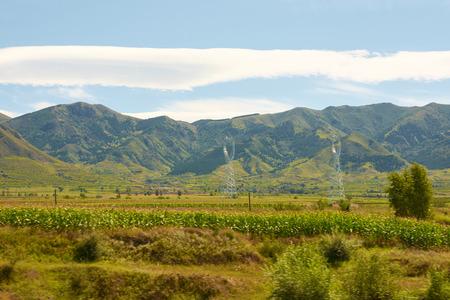 Landscape scenery view of a farmland