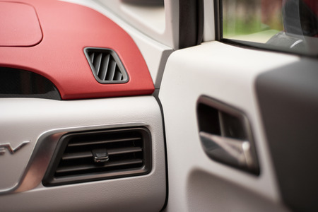 Auto air conditioning at car Stock Photo