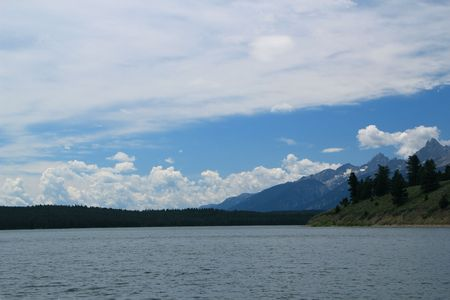 Jackson Lake below the Grand Tetons