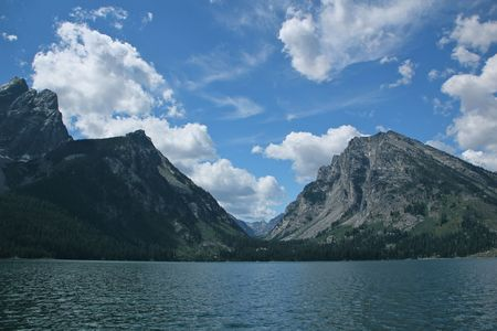 Jackson Lake and the Grand Tetons, Wyoming