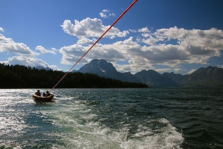 Tubing on Jackson Lake