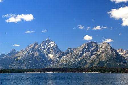 Jackson Lake under the Grand Tetons Wyoming