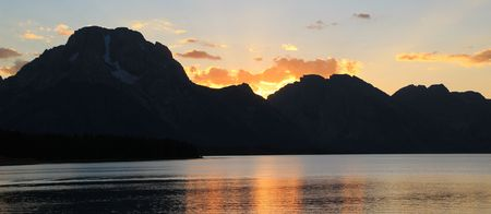 A beautiful sunset over the Grand Tetons