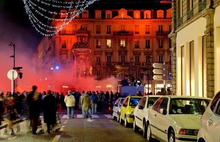 Lyon is turned into a live public art show with its annual festival of light at December 8th. photo