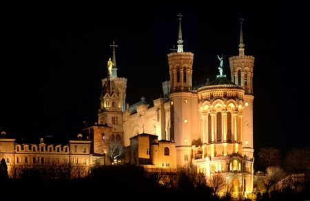 Fourviere Basilica in Lyon (France) Stock Photo - 1051938