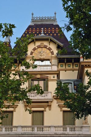 condos: Louis and Auguste Lumiere were pioneer contributors to the birth of film in 1895. It was built in 1901. It is now a living museum of cinema. Stock Photo