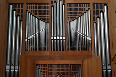 choral: Modern pipes organ in St Jean Cathedral (Lyon France)