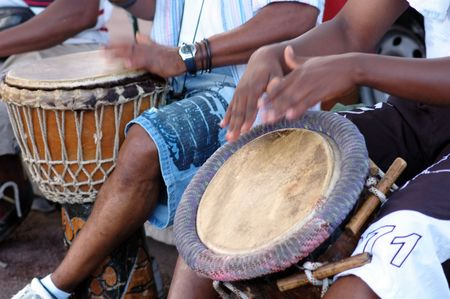 Traditional music with african percussions photo