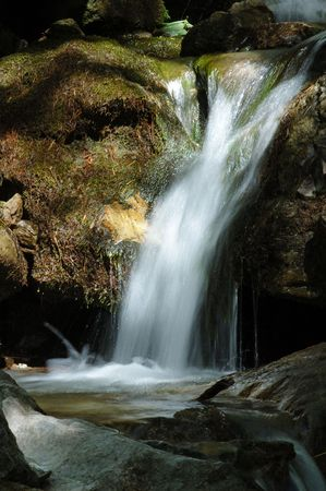 daunting: A Waterfall in the Meolion valley � Alpes , France