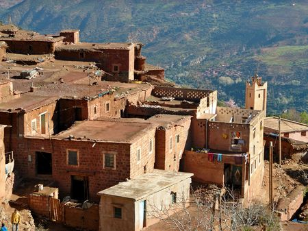 marocco: A village in High Atlas Region of Marocco