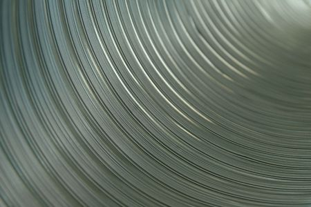 inner cylinder: close up inside an air condtioning  pipe Stock Photo