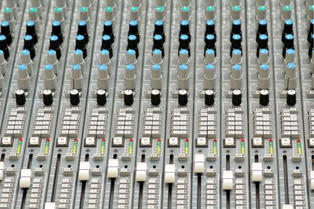 master volume: Mixing console (close up)