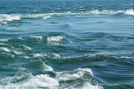 meets: Here the river of Etel meets the Atlantic Ocean. This passage is very dangerous for the  navigation. Etel sandbar, a long and dangerous reef that partially blocks the mouth of the  river Stock Photo