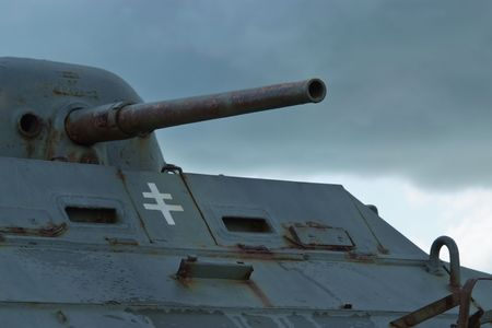 armour plating: An Old tank on Utah Beach - Normandy - France