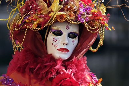 papiermache: Typical Venetian carnival papier-mache masks. They were used both by men and women on different  occasions