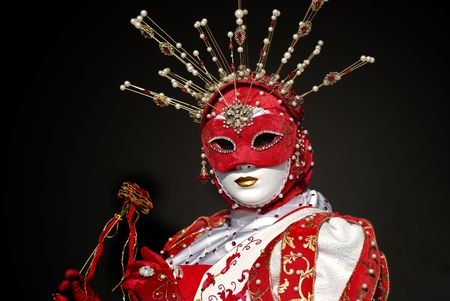 papiermache: Typical Venetian carnival papier-mache masks. They were used both by men and women on different occasions Stock Photo