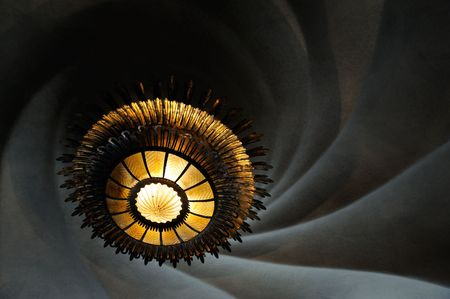 supposed: Inside Casa Batllo, a giant chandelier supposed to look like a whirpool