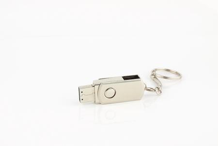 gigabyte: Usb flash storage drive on white backgroud