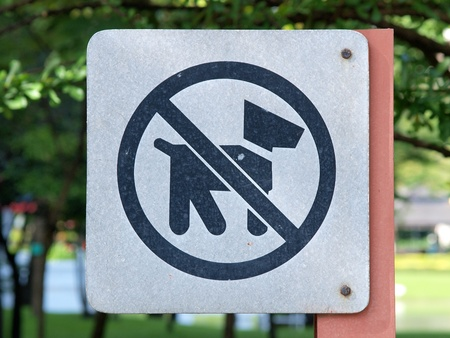 sign meaning dogs are not allowed here in the park photo