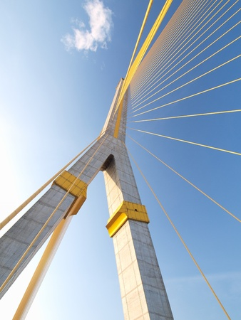 bridges: Mega sling Bridge,Rama 8, in bangkok Thailand          Stock Photo